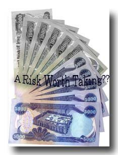 Investing in Iraqi Dinars can be risky..