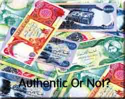 New Iraqi Dinars must be checked for authenticity